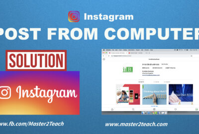How to post on Instagram from Computer?